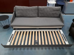 Swiss Plus Bettsofa BED for LIVING DELUXE in Stoff Jab Vince und Jab Jerrold grau – Ausstellungsstück